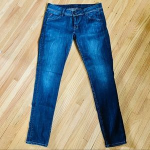 Hudson Low-Rise skinny jeans